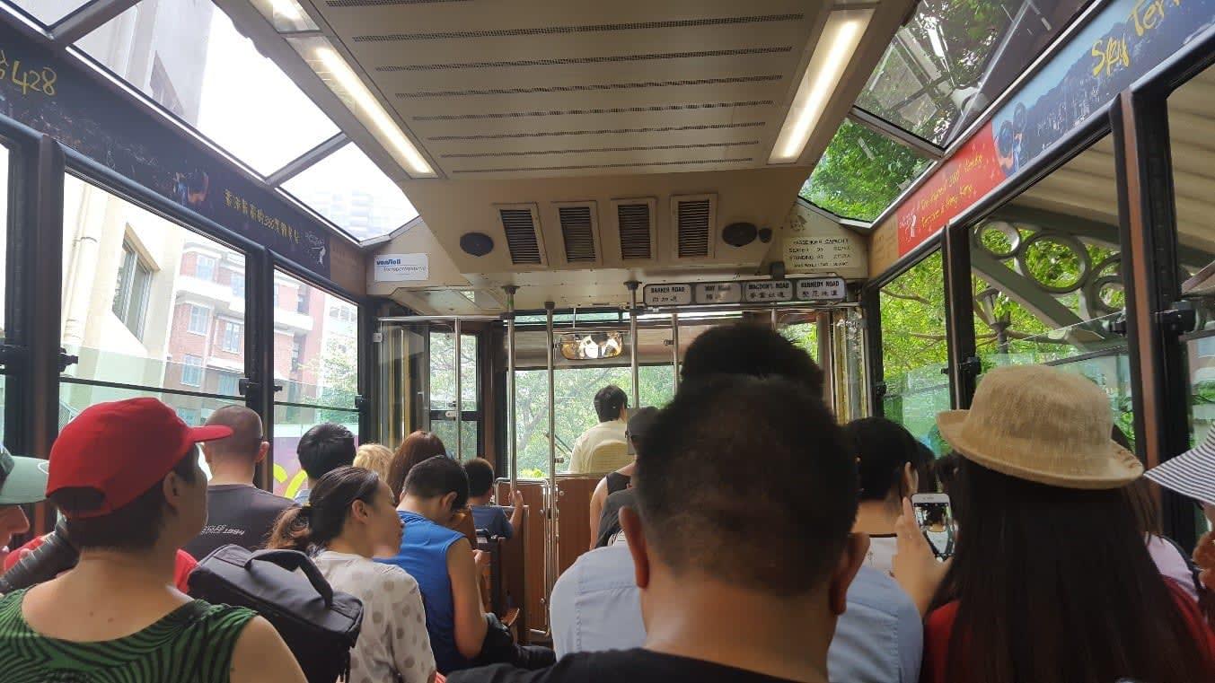 lịch trình du lịch hong kong: xe bus tới the peak tram