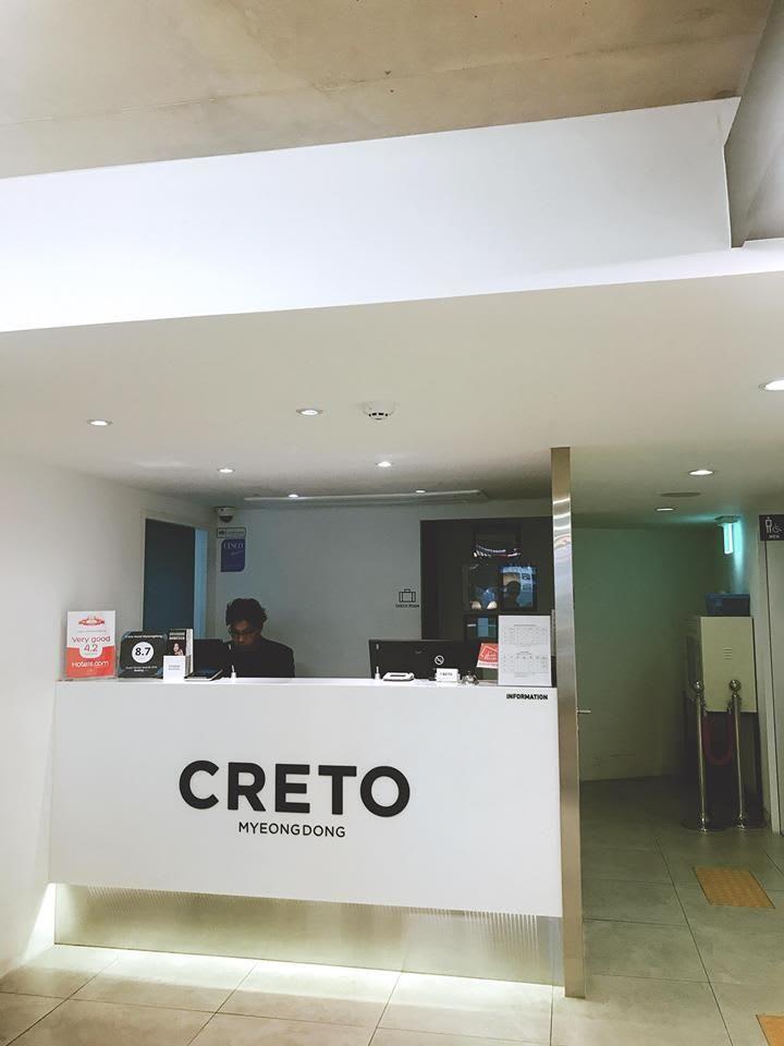khách sạn creto là nơi ở trong lịch trình mua sắm ở seoul