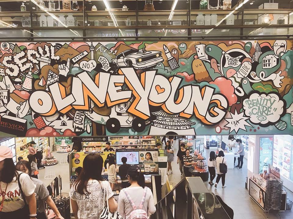 mua mỹ phẩm ở các khu mua sắm ở seoul