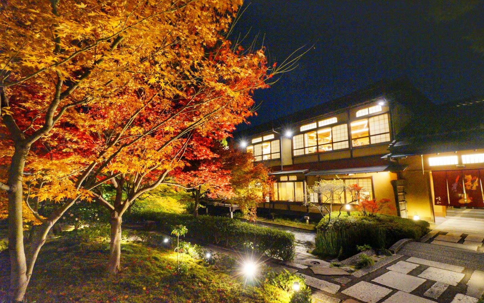 nhà hàng kaiseki rất ấn tượng trong lịch trình ngắm mùa thu ở kyoto