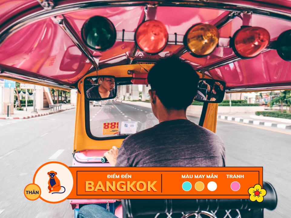 Năm 2018 12 con giáp nên du lịch ở đâu: tuổi thân - bangkok