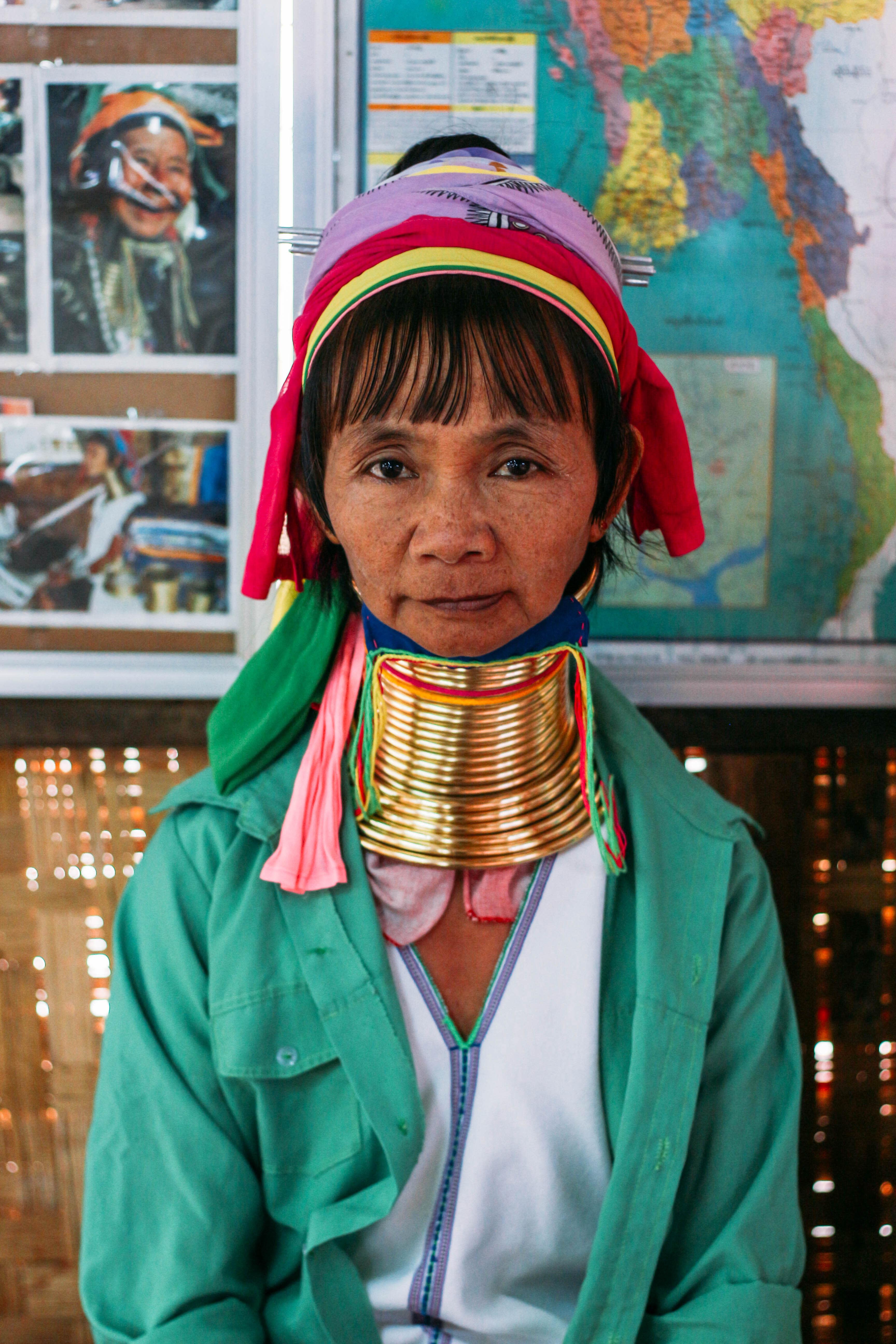 con người ở mandalay và inle: phụ nữ người padaung