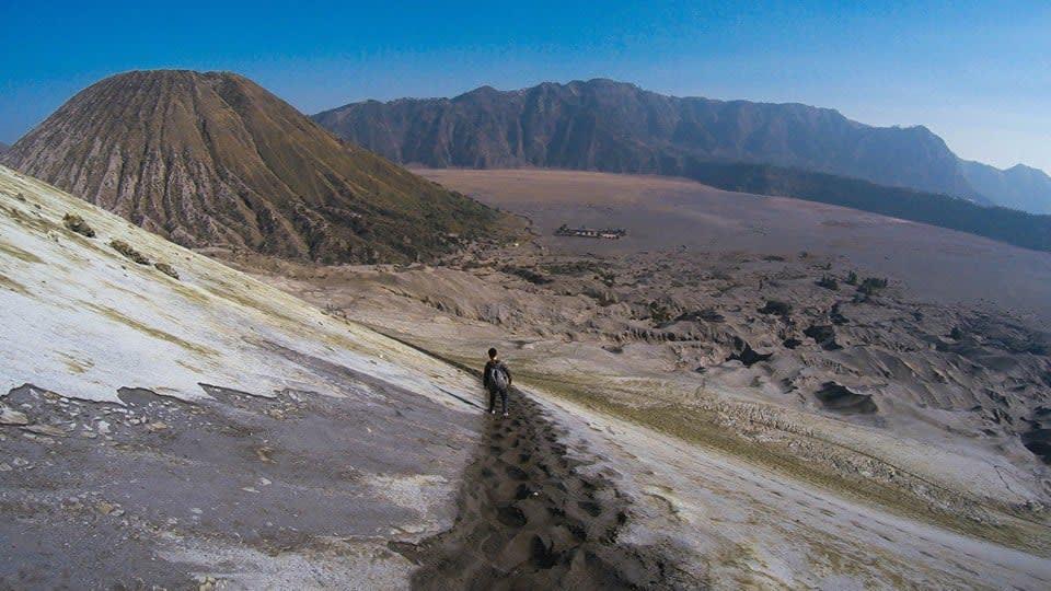 tro bụi ở núi lửa bromo