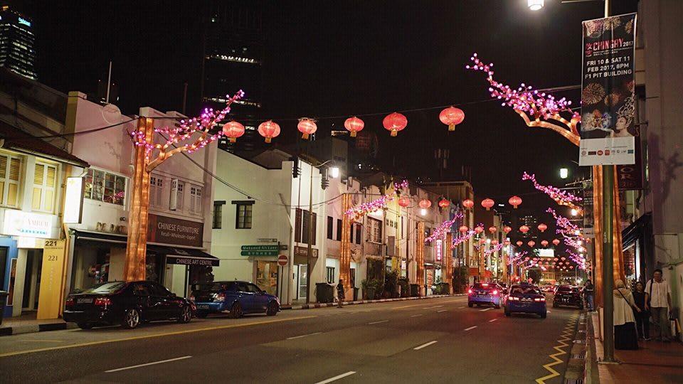trải nghiệm singapore 4 ngày 3 đêm: china town ban đêm