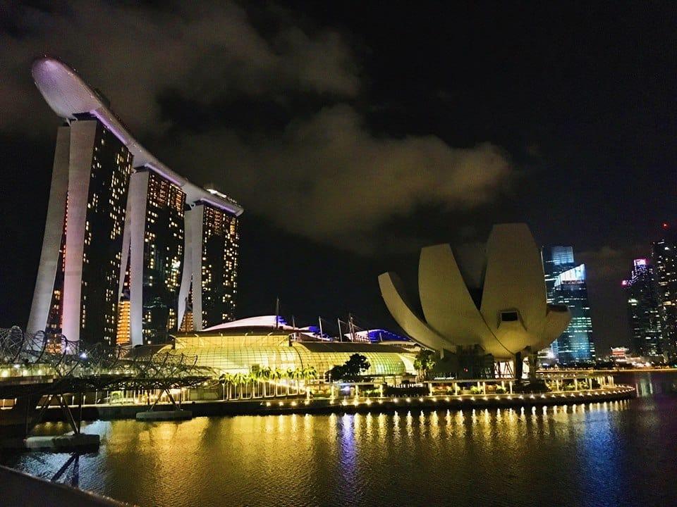 trải nghiệm singapore 4 ngày 3 đêm: marina bay về đêm