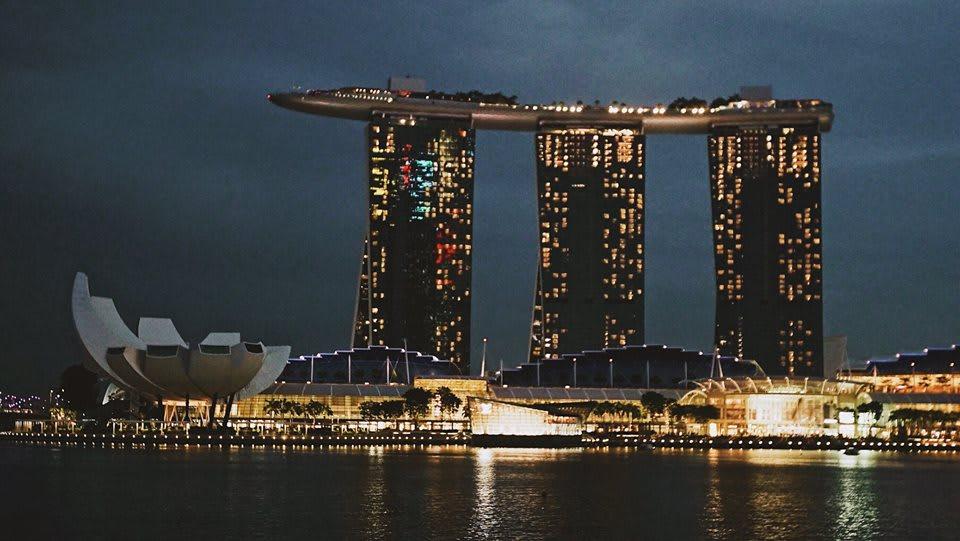 trải nghiệm singapore 4 ngày 3 đêm: marina bay vào ban đêm