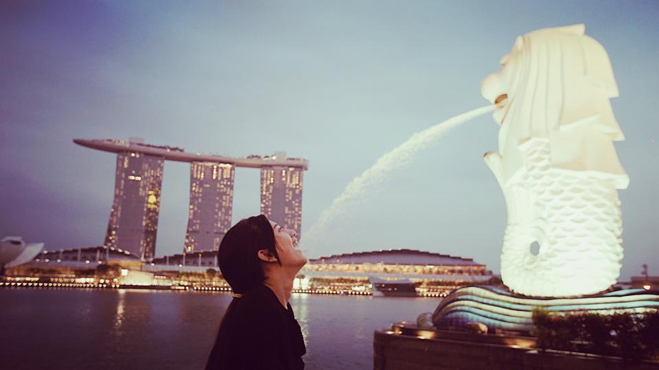 trải nghiệm singapore 4 ngày 3 đêm: tượng sư tử merlion
