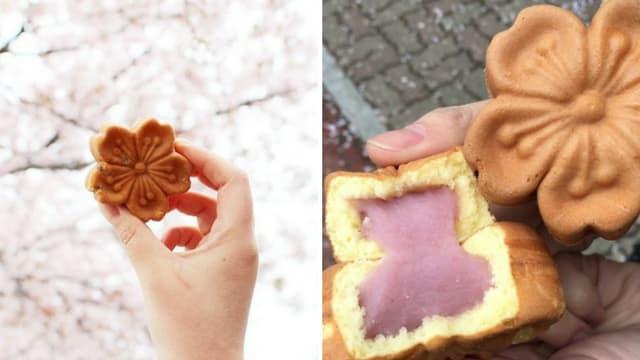 bánh anh đào jinhae là một trong những sản phẩm hoa anh đào ở hàn quốc phải thử