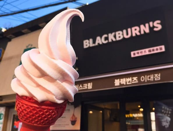 kem blackburns' là một sản phẩm hoa anh đào ở hàn quốc phải thử