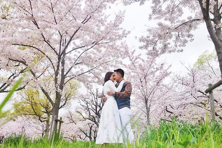 công viên kema sakuranomiya là một địa điểm ngắm hoa anh đào
