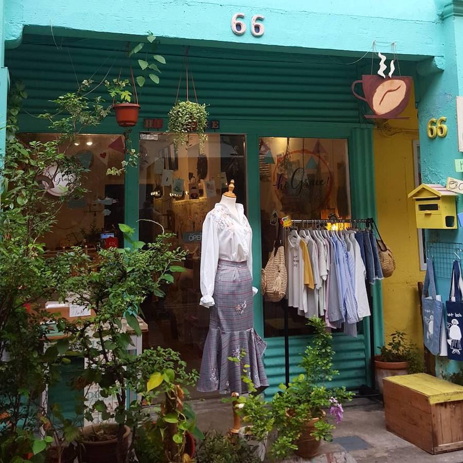 haji lane là một khu văn hóa mới ở singapore rất phù hợp cho việc mua sắm