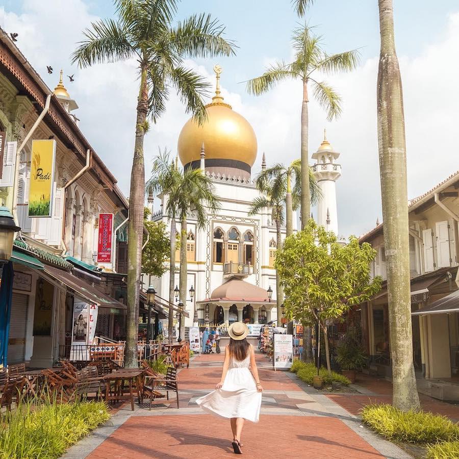 kapong glam là khu văn hóa mới ở singapore nổi tiếng với nhiều nhà thờ sultan