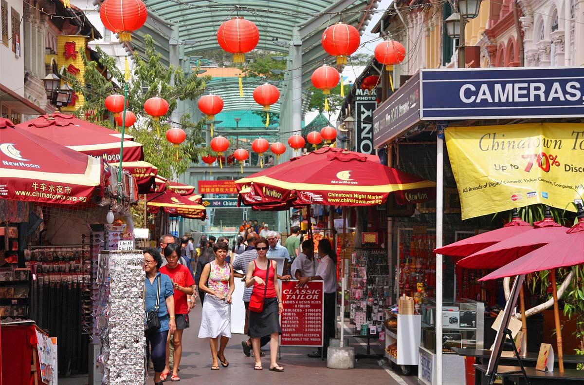 china town là một khu văn hóa mới ở singapore nên ghé