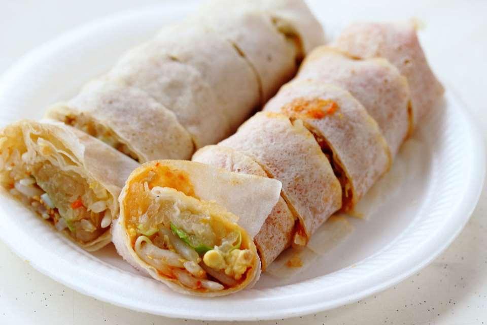 Popiah là món ăn vặt singapore mang sắc màu trung đông