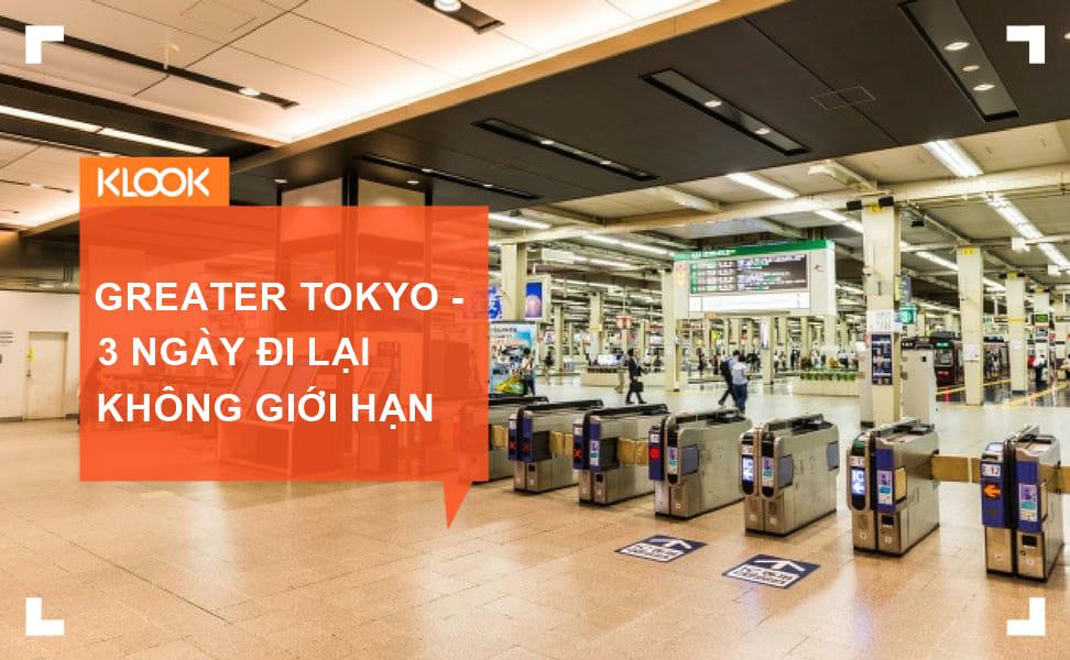 Thẻ Greater Tokyo – 3 ngày đi lại không giới hạn ở Tokyo chỉ với 7200 Yên (khoảng 1,5 triệu) 1