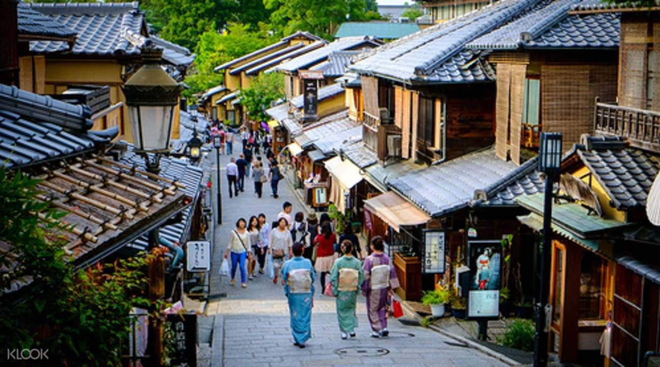 phố cổ kyoto là một nơi rất đáng ghé trong lịch trình du lịch osaka bằng JR pass