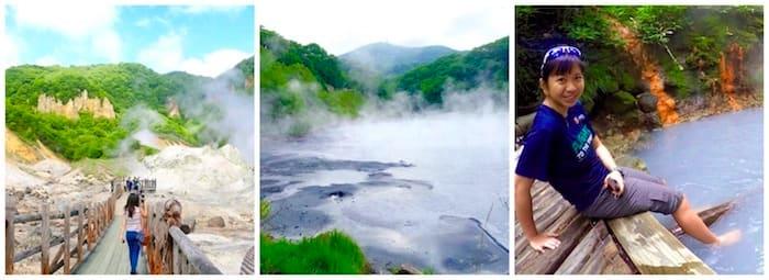 thăm thung lũng địa ngục noboribetsu trong lịch trình du lịch sapporo bằng JR Pass