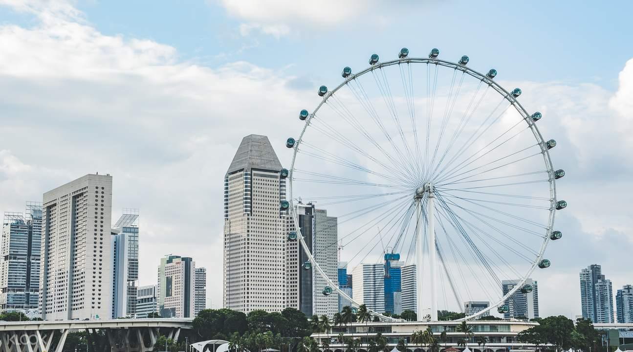 trải nghiệm singapore flyer trong lịch trình du lịch singapore 3 ngày dành cho gia đình