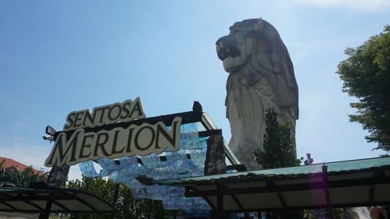 tượng merlion là một điểm chơi tại trạm imbiah