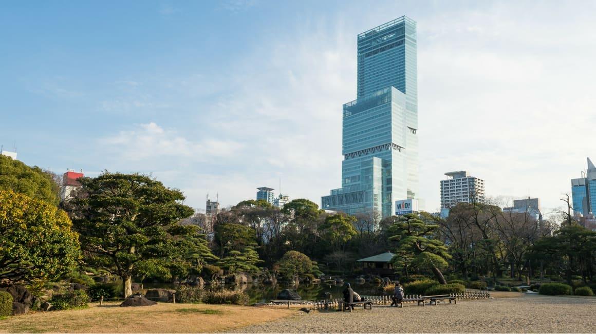 tòa nhà harukas300 ở gần ikutama, khách sạn tình nhân ở nhật bản