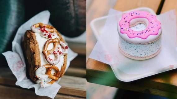 sandwich kẹp kem là một món ăn hong kong khá độc đáo