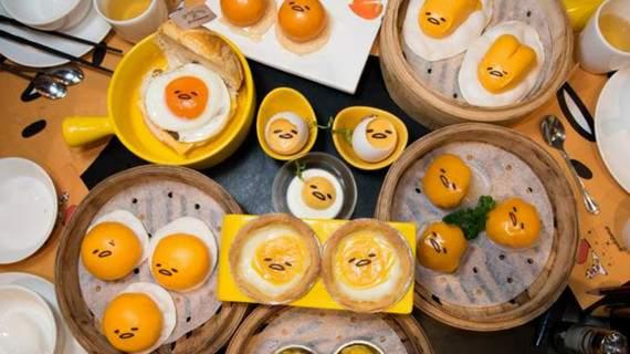 trứng lười gudetama là một món ăn hong kong rất ngon mắt