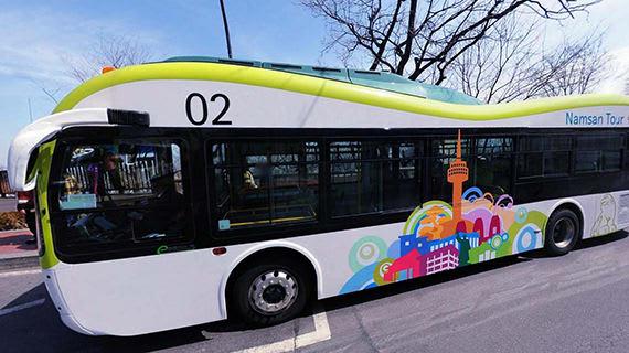 đến tháp N Seoul bằng xe buýt namsan