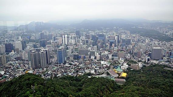 toàn cảnh Seoul từ tháp N Seoul