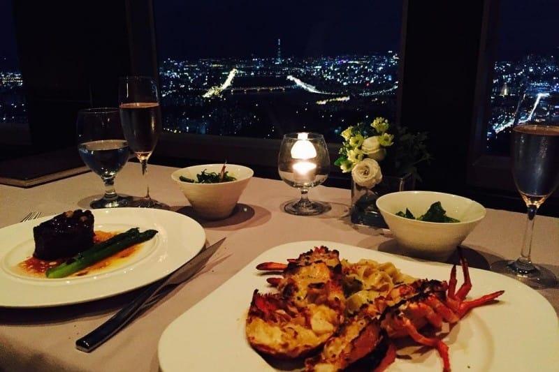 ăn tối tại n.grill trong tháp N Seoul