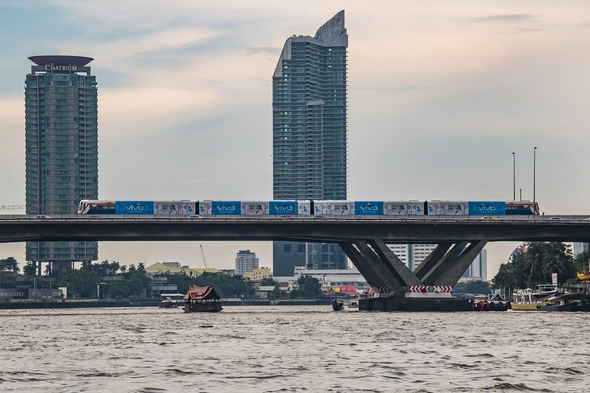 tàu điện BTS là một loại phương tiện công cộng ở thái lan