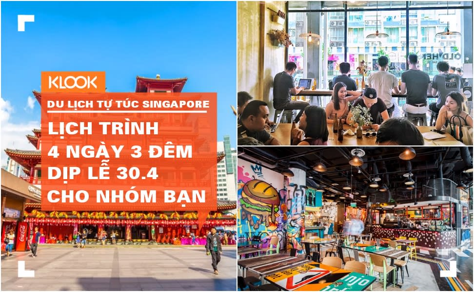 Lịch trình du lịch tự túc Singapore 4 ngày 3 đêm dịp 30.4 cho nhóm bạn 1