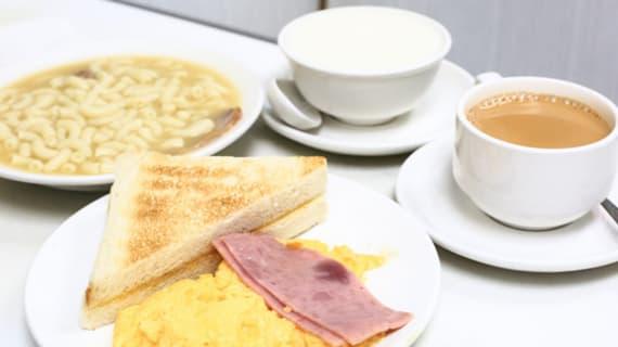 Trứng chiên và sữa nóng Hong Kong