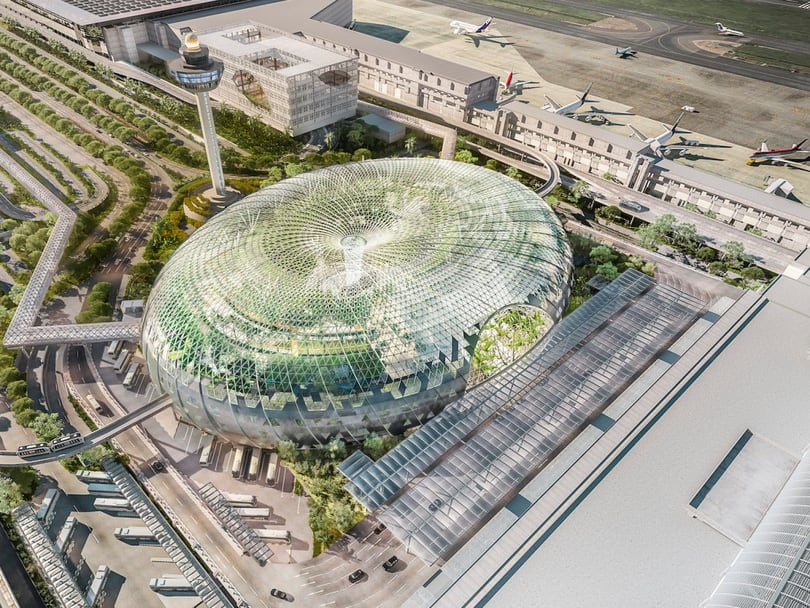 sân bay changi là điểm đến đầu tiên trong lịch trình đi singapore cho nhóm bạn