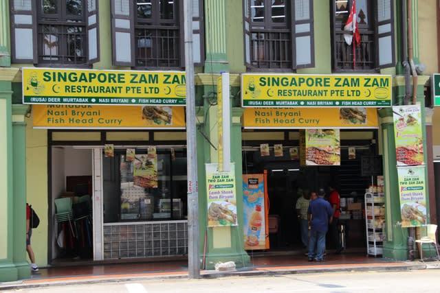 ăn trưa tại singapore zam zam trong lịch trình đi singapore cho nhóm bạn