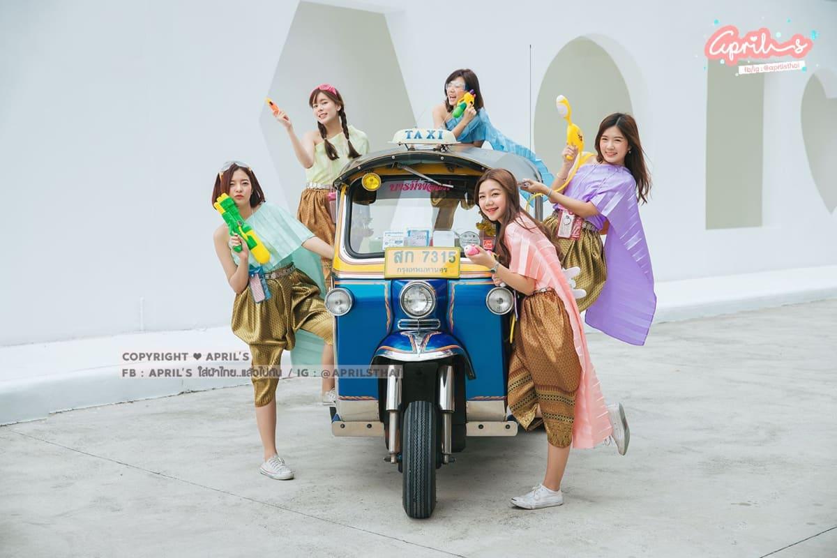 mặc trang phục truyền thống thái lan mua từ april's thai clothing