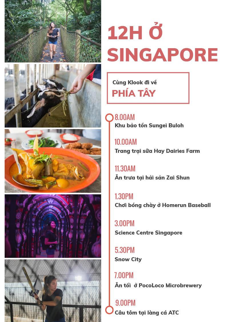 12h khám phá phía tây singapore
