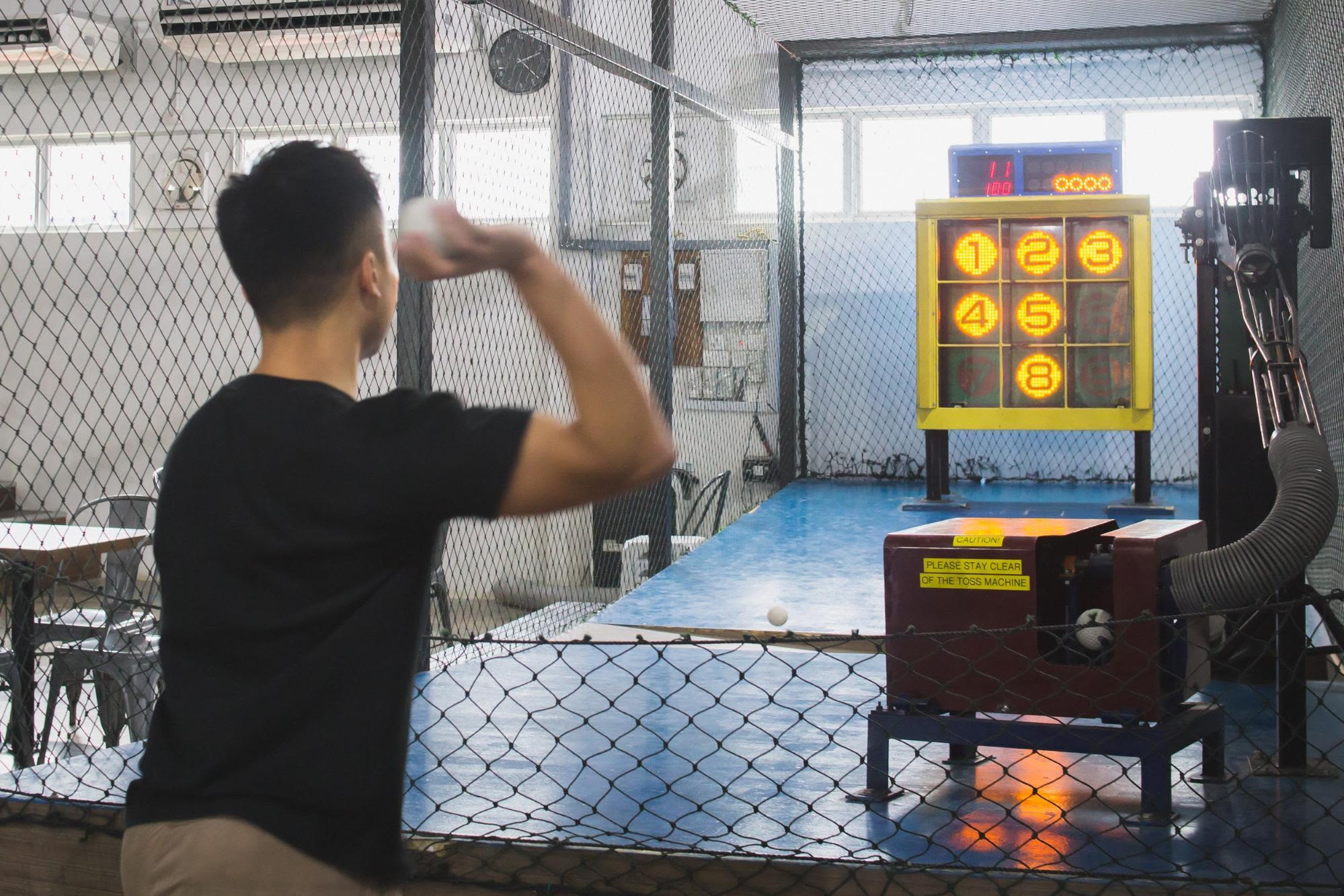 chơi bóng chày tại homerun baseball, phía tây singapore