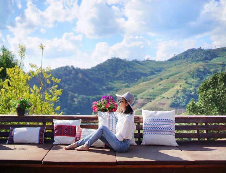 sống ảo ở Baan Mon Muan là một trong những bí kíp du lịch Chiang Mai tiết kiệm