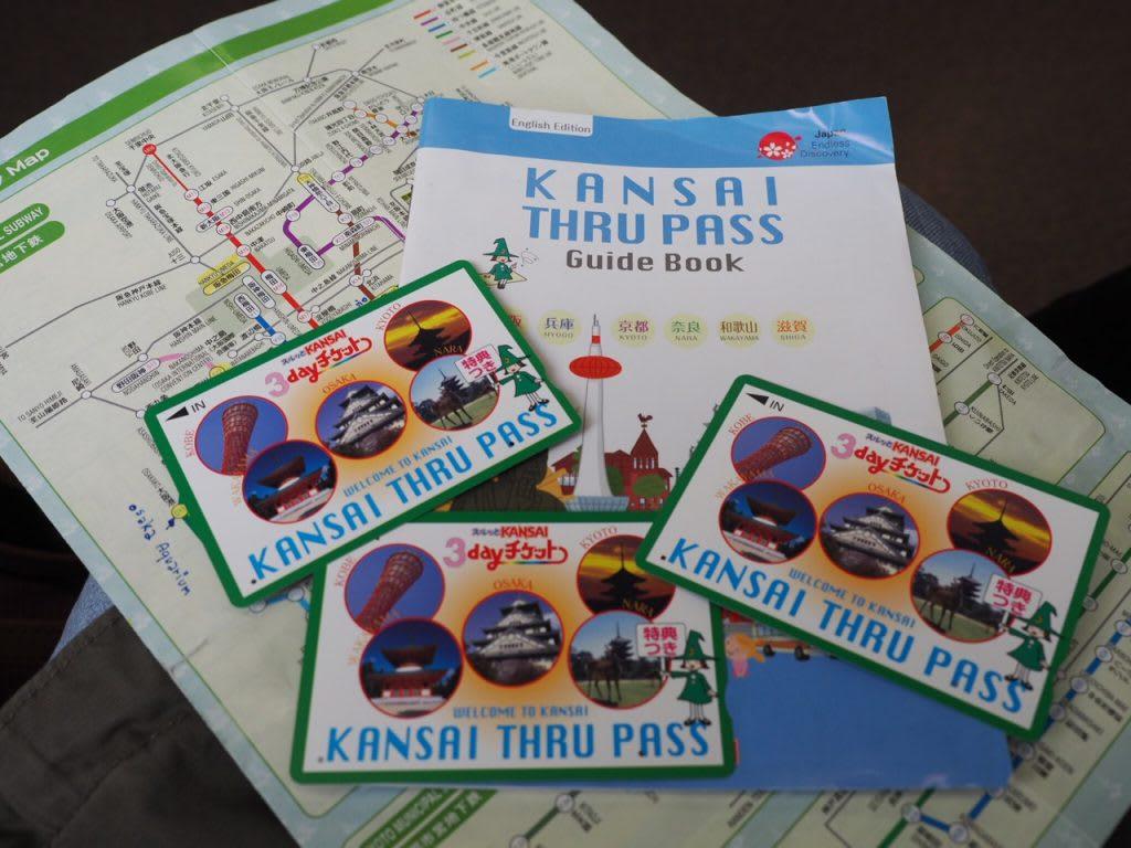 thẻ vận chuyển ở khu vực osaka: kansai thru pass