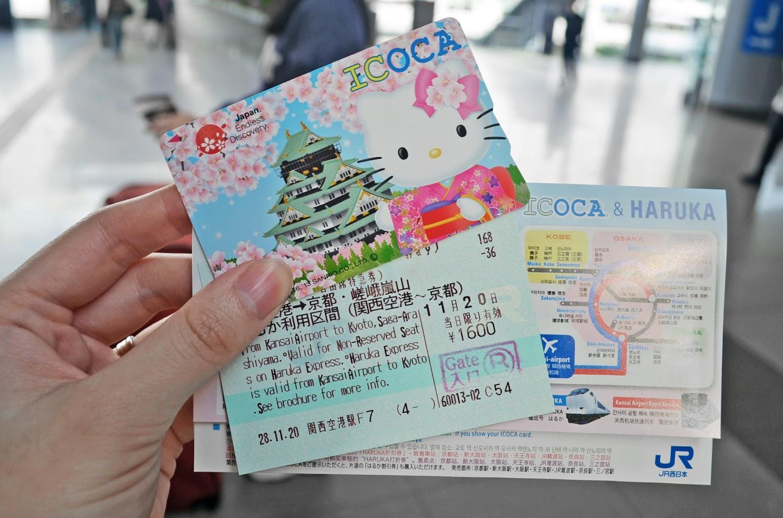 thẻ vận chuyển ở khu vực osaka: icoca pass