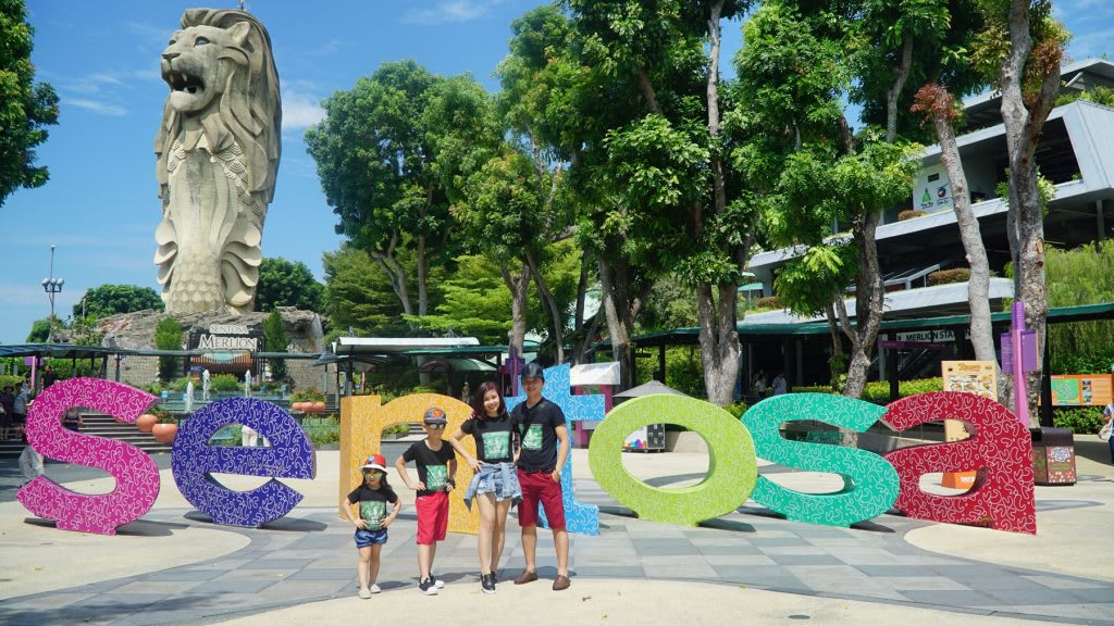 Lịch trình du lịch tự túc Singapore 4 ngày cho gia đình: sentosa