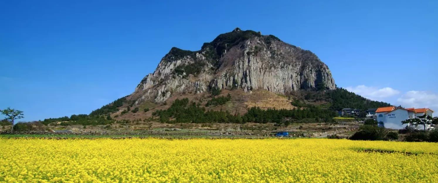 địa điểm tham quan ở đảo jeju: núi sanbang