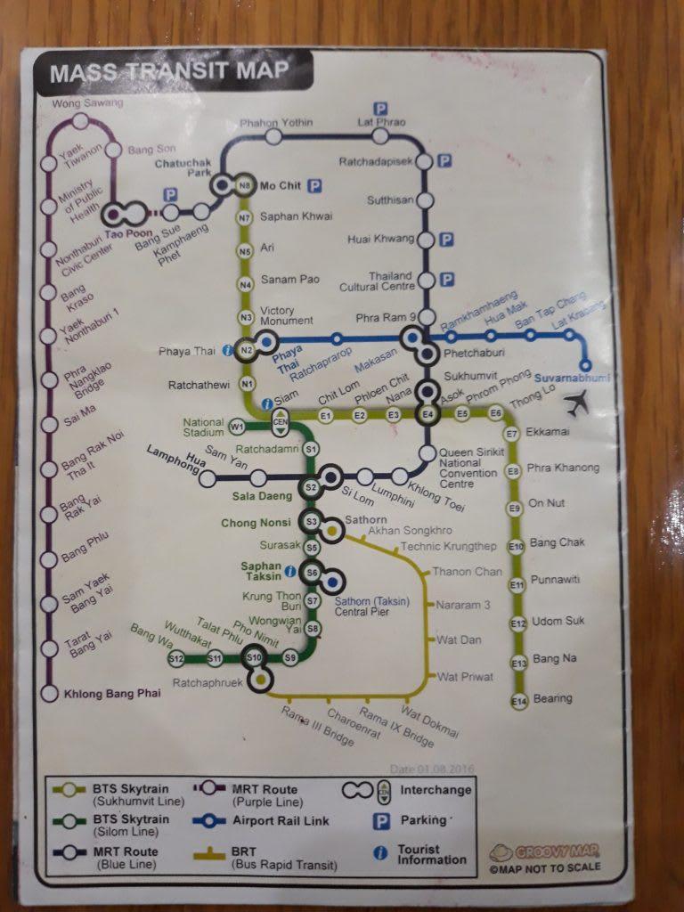 hệ thống tàu điện của Bangkok: bản đồ