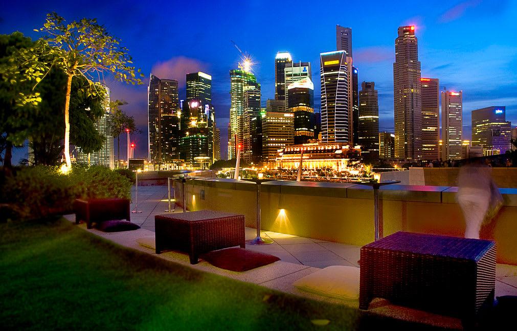 điểm đến cho các cặp đôi ở Singapore: esplanade roof garden