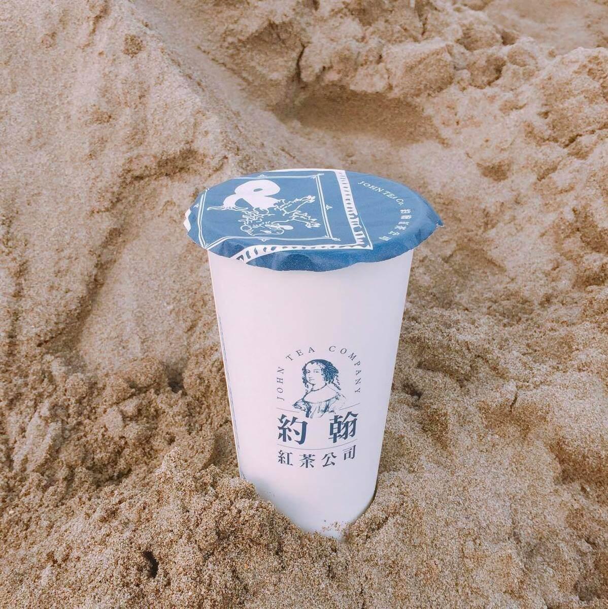 cửa hàng nước take-away ở Đài Loan: john black tea company