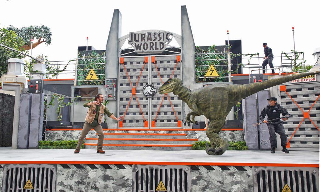 Jurassic World đã đổ bộ vào Universal Studios Singapore: roar show