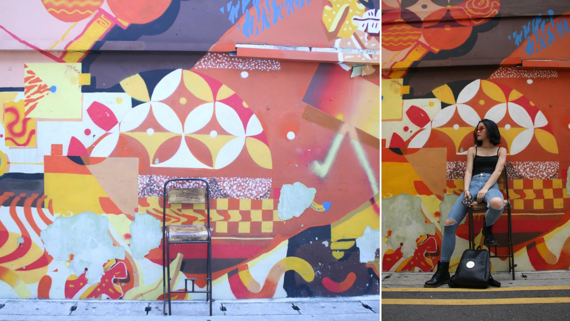 Khám phá Haji Lane: nghệ thuật đường phố graffiti