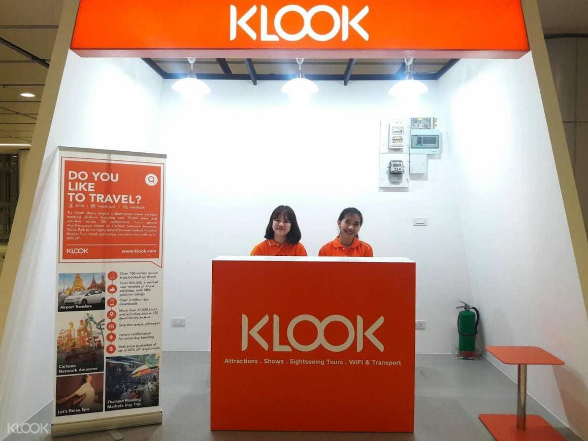 dịch vụ klook nhận tại sân bay Thái Lan