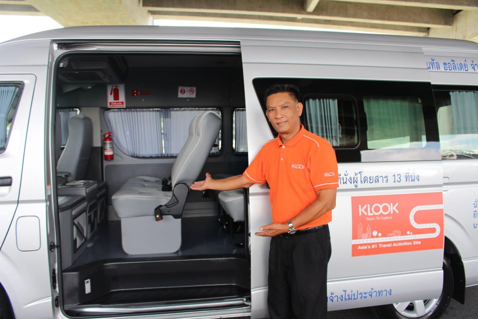 dịch vụ klook nhận tại sân bay Thái Lan: dịch vụ đưa đón sân bay