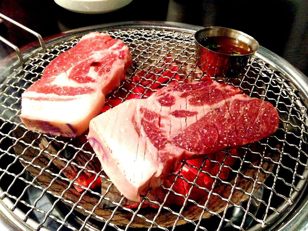 thịt heo đen nướng ở jeju